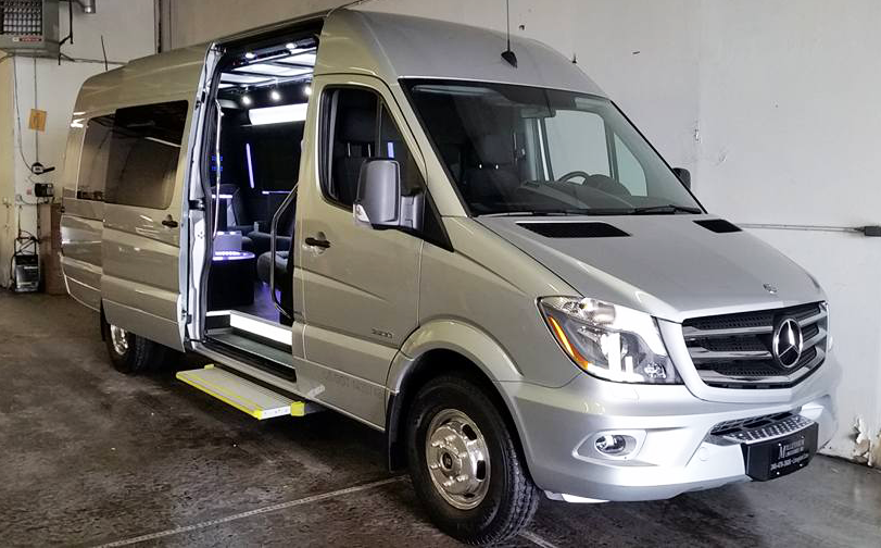 Mercedes Benz Sprinter By Party Bus Brownstown - Mercedes benz limo bus